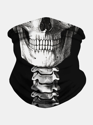 Skull Cap Print Face Mask Insect-proof Sunshade Shawl
