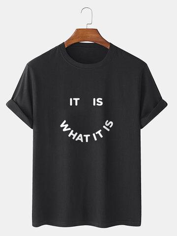 100% Cotton Smile Graphics T-Shirt