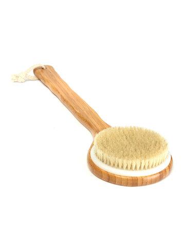 Corpo doccia in legno con manico lungo in setola Pennello Spa Scrubber Sapone Detergente esfoliante per vasca Strumenti