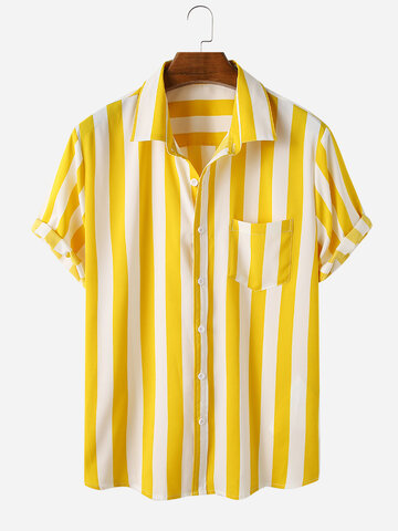 Short Sleeve Striped Shirts