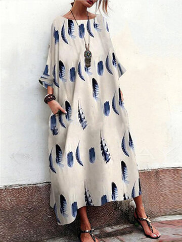 Bohemian Print Summer Baggy Maxi Dress