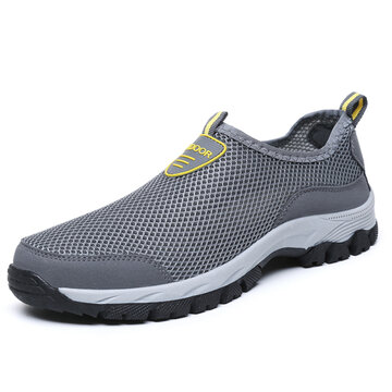 Men Mesh Non Slip  Wearable Hiking Sneakers