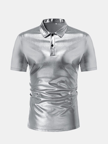 Night Club Shiny Shirt Dress Shirt