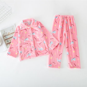 2Pcs Girls Pajamas Set For 4Y-15Y