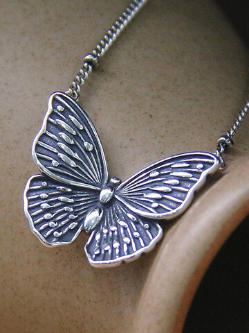 Butterfly Women Necklace Ring