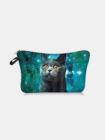 Cat Starry Sky Makeup Bag
