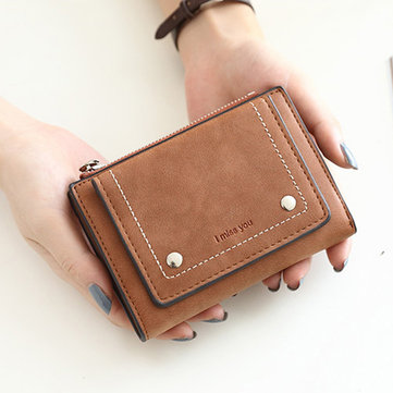 Women Vintage Multi-slots Small Wallet