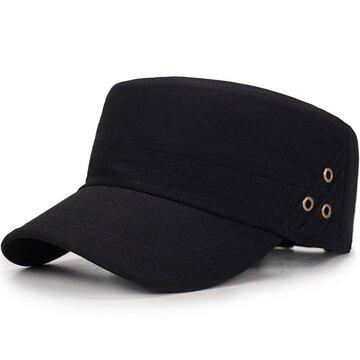 Vogue Cotton Solid Color Flat Cap