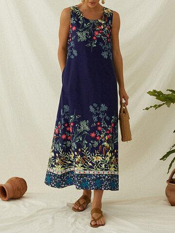 Floral Print Bohemia Dress