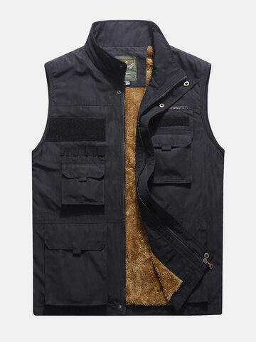 Men's Mutil-Pockets Fishing Waterprrof Fleece Vest