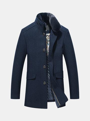Thicken Fleece Collar Wool Jacket