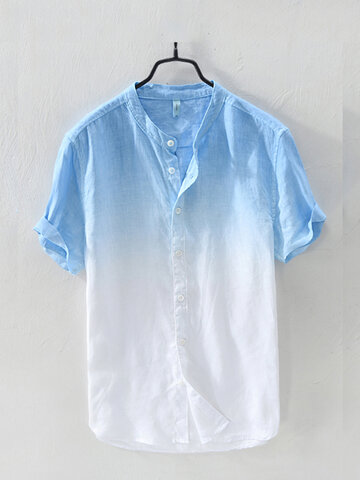 Gradient Color Summer Short Sleeve Shirt