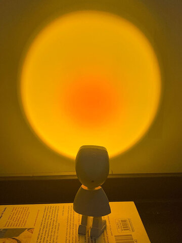 Robot Sunset Lamp Rainbow Projection Lamp Night Light Bedside Projector Atmosphere Led Light USB Wall Light Decoration Modern Table Lamps Bedroom Desk Lamp