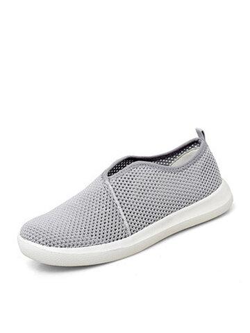 Короткие кроссовки из дышащей сетки без шнуровки