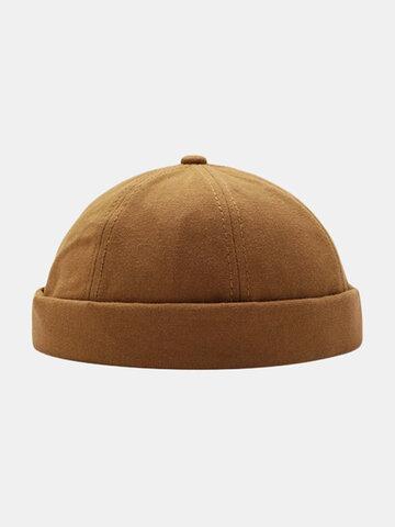 Unisex Brimless Hats Solid Color Skull Caps Hip Hop Hat
