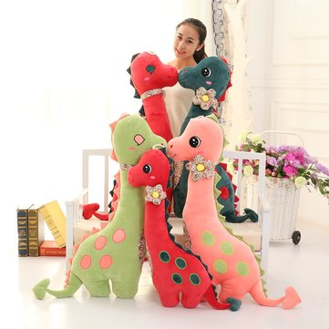 80/100cm Cozy Plush Brachiosaurus Dinosaur Pillow Soft Cuddly Stuffed Animal Throw Pillow Child Gift