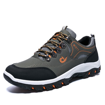 Men Hiking Metal Buckle Shock-absorbing Outdoor Sneakers