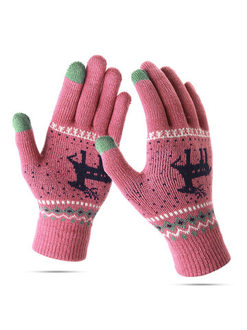 Women Knitted Warm Full Finger Touch Screen Gloves