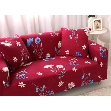 Red Kimono 1/2/3/4 Seater Home Soft Elastic Sofa Cover