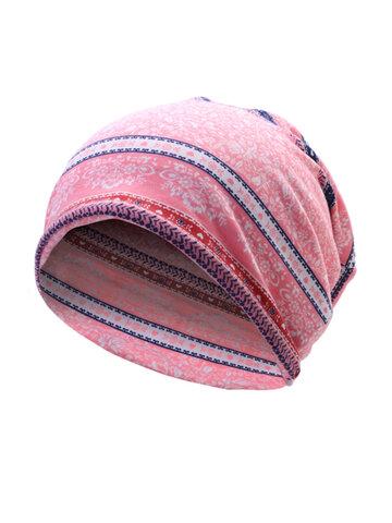 Flowers Cotton Skullies Beanies Cap Casual Warm Bonnet Hat