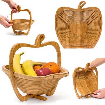 Cesto pieghevole in bambù a forma di mela