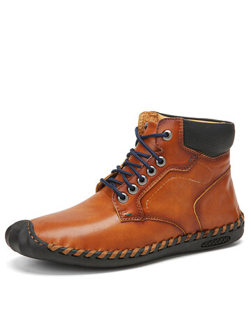 Men Cow Split Leather Boots