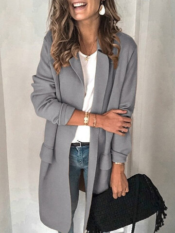 Solid Color Casual Suit Jacket
