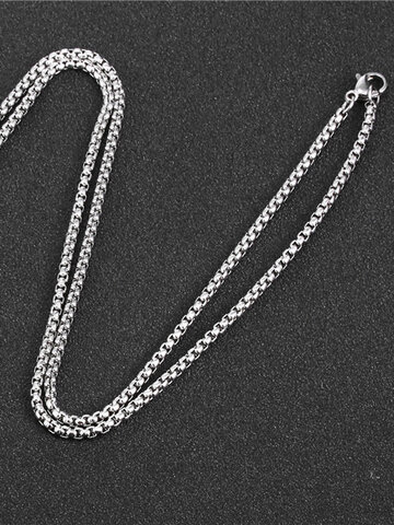 Square Pearl Chain Necklace