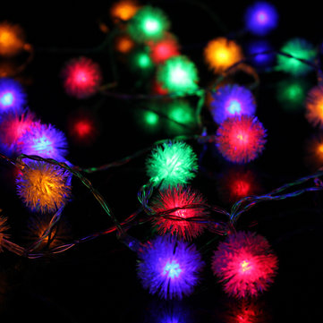 Batería Powered 4M 40LED copo de nieve Bling Fairy String luces de Navidad al aire libre Party Home Decor