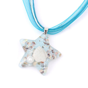 Shell Pearl Inside Star Necklace