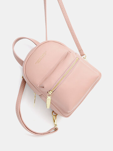 Solid Casual Cute Backpack