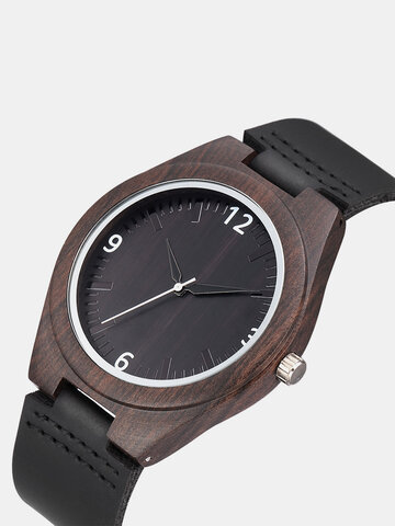 Genuine Leather Wooden Watches