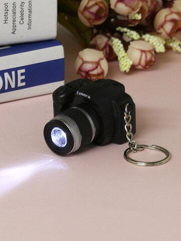 Mini Camera Sound LED Flashlight Keychain