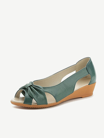 Peep Toe Hollow Out Sandals