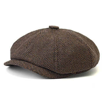 Casual Visor Cotton Newsboy Beret Flat Cap