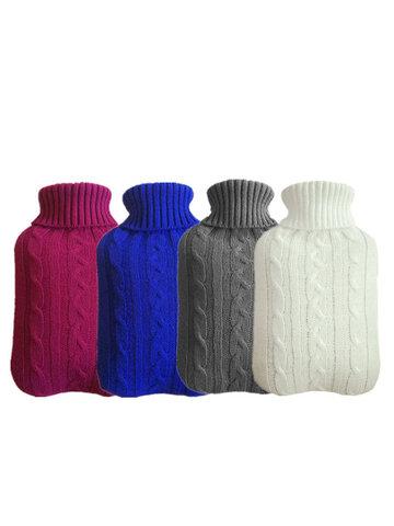 Hot Water Bottle Knit Set Large Velvet Bag