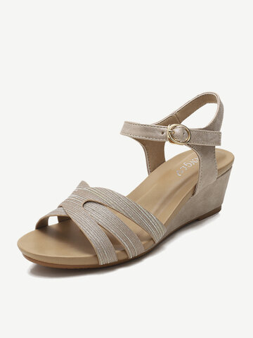 Buckle Casual Brief Stripe Sandals