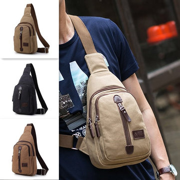 Canvas Multi-function Outdoor Travel Chest Bag Crossbody Bag