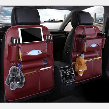 5 Styles Leather Multi-Function Car Storage Bag Car Seat Storage Container Hanging Bag Outdoors Bag Folding Dining Table