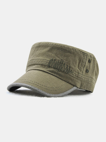Men Military Cap Flat Cap Casual Outdoors Peaked Forward Cap