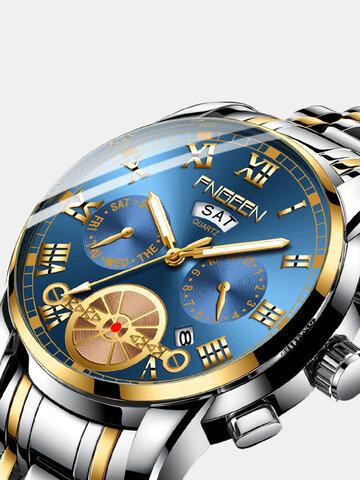 Week Display Quartz Watch