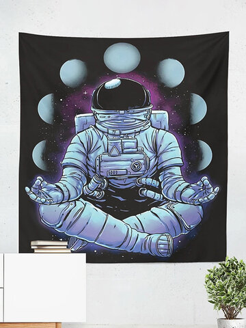 Astronaut Tapestry Space Moon Phase Hanging Cloth Living Room Background Cloth