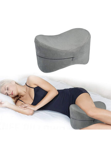 ESSORT Contour Knee Pillow For Side Sleepers Orthopedic Memory Foam Leg Pillow For Sleeping Spine Alignment For Sciatica Relief Back Pain Leg Pain Hip Joint Pain