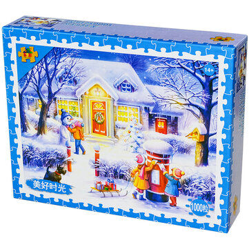 Snow Puzzle Decompression Toy Jigsaw Cartoon Educational Toy