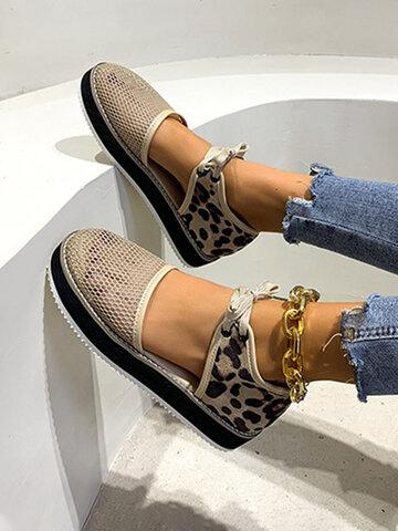 Mesh Closed Toe Strappy Platform Sandals