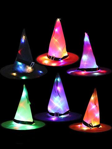 Halloween Hexe Hut Mit LED Lichter Party Dekoration Requisiten Für Wohnkultur Kind Erwachsene Party Kostüm Baum Hängendes Ornament
