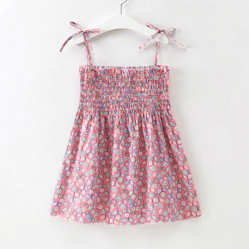 Print Woven Girls Dress For 2-9Y