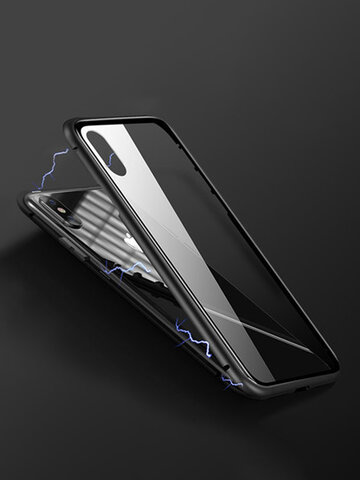 iPhone Phone Case Double-sided Transparent Tempered Glass