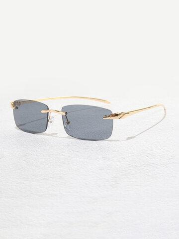 نظارة شمسية مربعة بدون إطار للجنسين