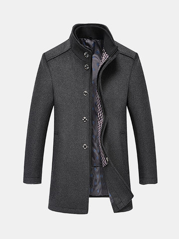 2 in 1 Detachable Vest Woolen Coat